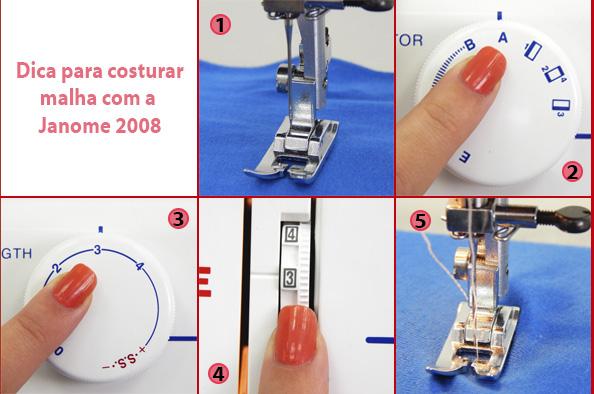 como costurar malha com a 2008