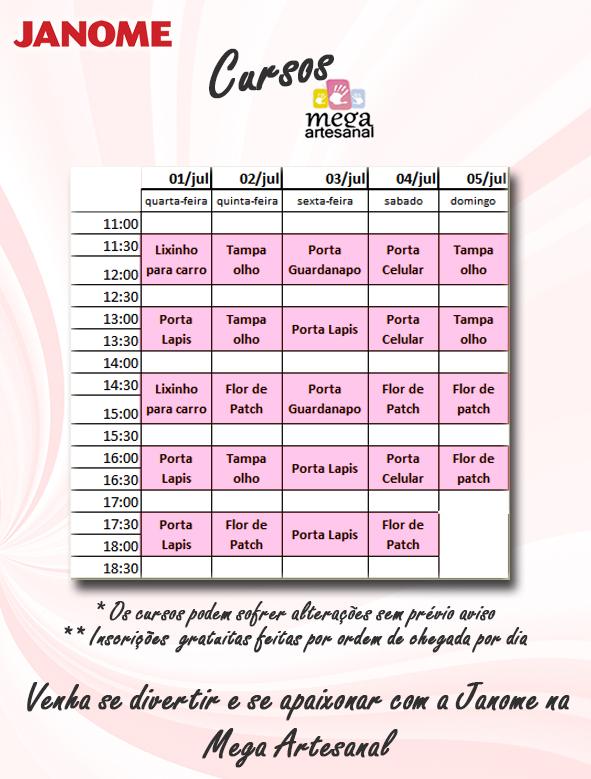 cursos Mega Artesanal 2015