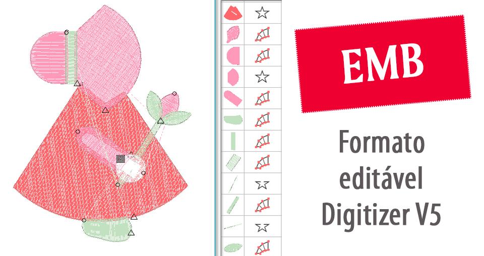 Matriz de bordado editável EMB