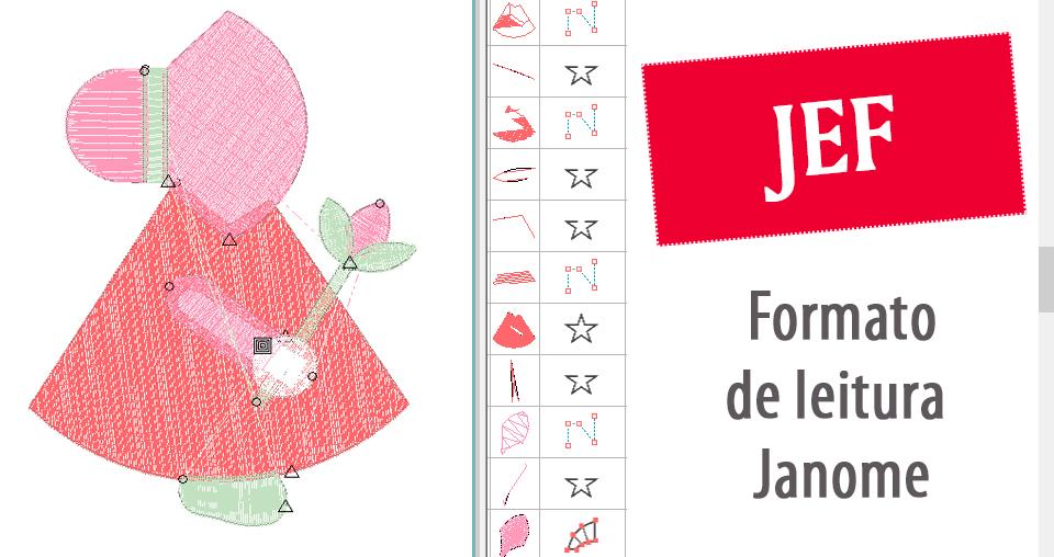 Matriz de bordado JEF
