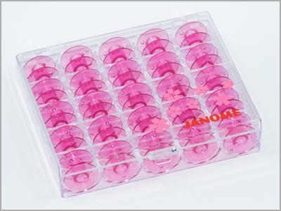 Conjunto com 25 bobinas plásticas rosa 200277062