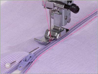 Costura de zíper comum