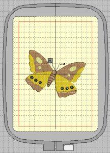 Matriz de borboleta 140x200 mm para máquina Janome MC350E e MC370E