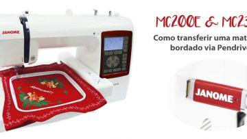 Como transferir por pendrive um bordado para a sua máquina de bordar Janome MC200E e MC230E