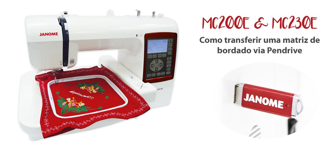 Como transferir um bordado para a sua máquina de bordar Janome MC200E e MC230E