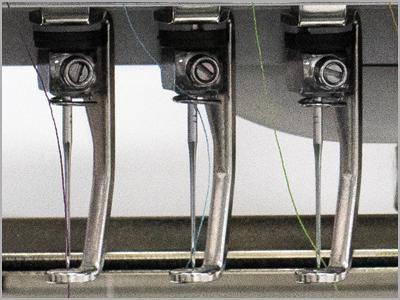 Calcadores de metal na máquina de bordar MB-7