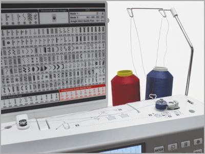 Enchedor de bobina com motor independente na máquina mc6700P