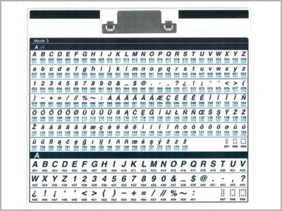 3 fontes de letra costurada na máquina de costura MC6700P