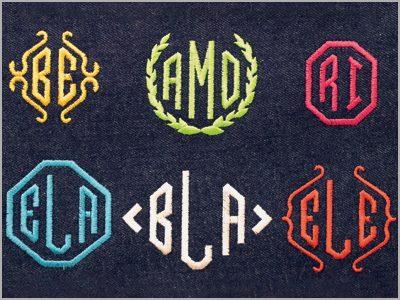 Monogramas de 2 e 3 letras