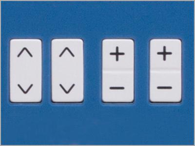Teclas de seleção e ajuste de pontos da máquina de costura DC6100