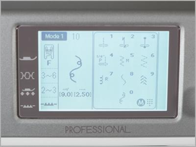 Visor de LCD na máquina MC6700P