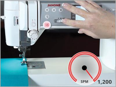 Velocidade máxima de 1200ppm na costura reta na máquina MC6700P