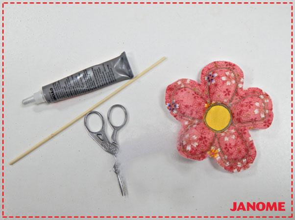 Crie e Borde com a Janome – Série Decorações – Flores M, G e GG!-9