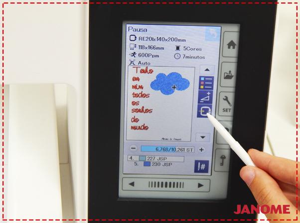 Crie e Borde com a Janome – Série Decorações – Quadro Nuvem com fitas-12