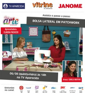 Passo a Passo: Bolsa lateral em Patchwork com a Artesã Camila Martins