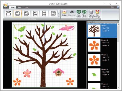 Embroidery Edito para MC500E