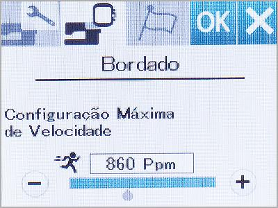 Velocidade ajustável de 400ppm até 860ppm