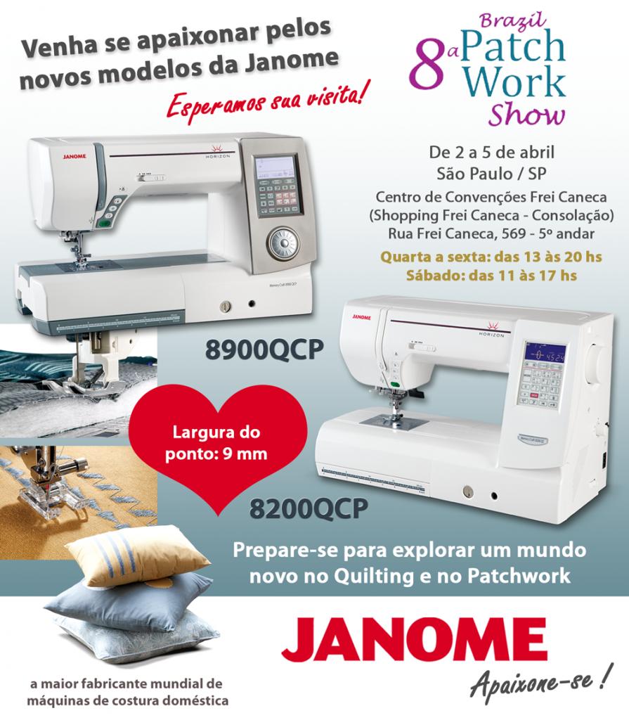 8ª Brazil Patchwork Show – Janome marcará presença e aguarda sua visita!