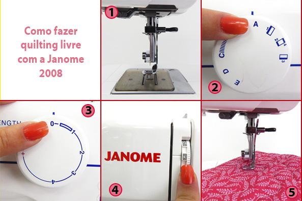 Como fazer quilting livre com a Janome 2008
