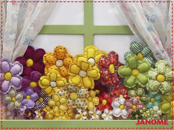 Crie e Borde com a Janome – Série Decorações – Flor P-1
