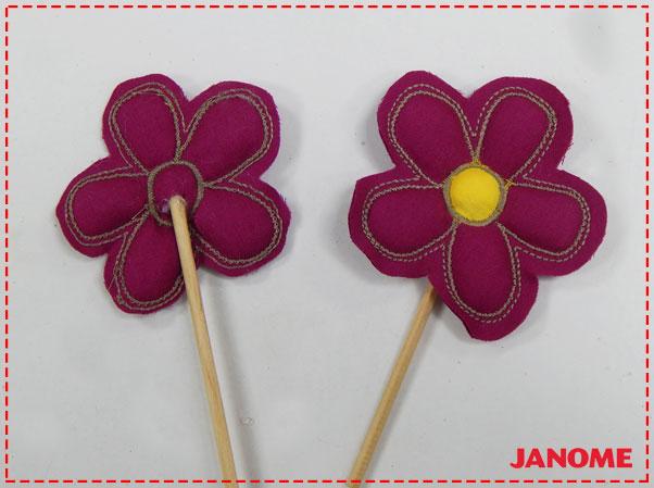 Crie e Borde com a Janome – Série Decorações – Flor P-11
