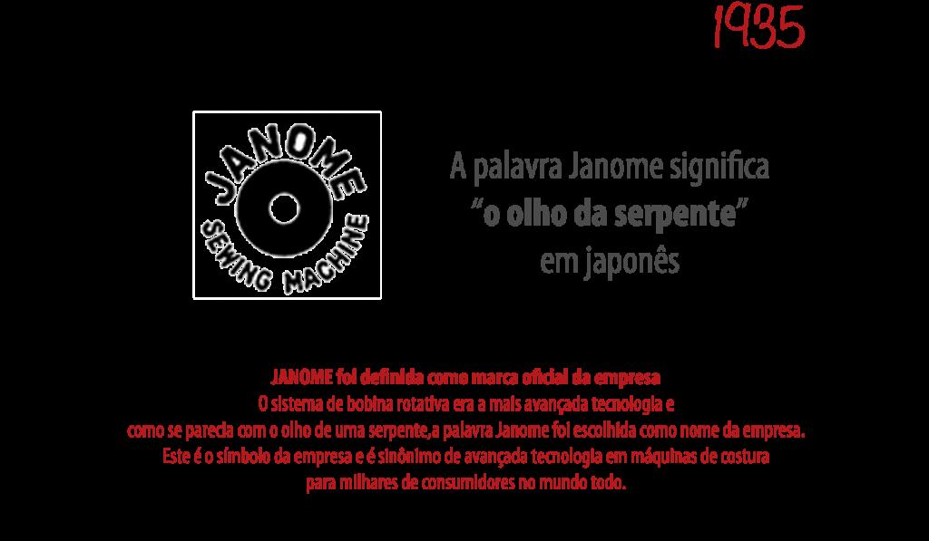 1935 - Definição a marca Janome