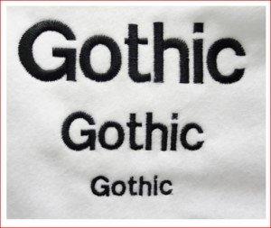 Fonte gothic