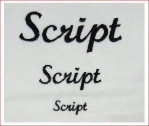 fonte script