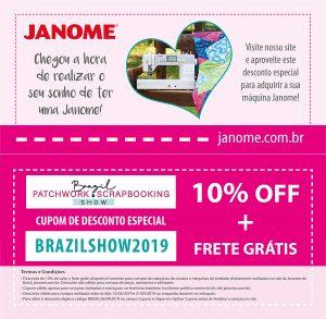 CUPOM DE DESCONTO BRAZIL PATCHWORK
