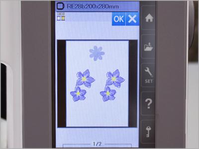 Agrupar cores de bordados duplicados MC550E