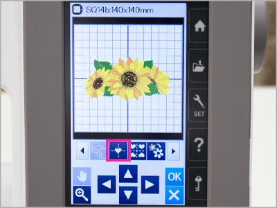 Função de centralização automática MC550E