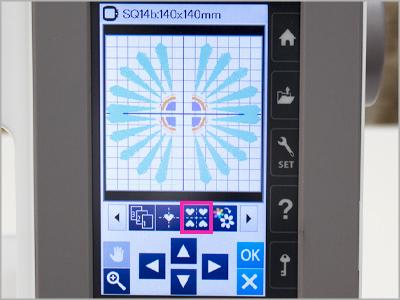 Função layout de moldura MC550E