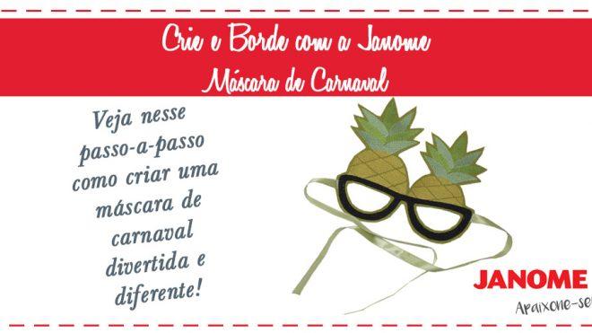 Crie e Borde Máscara de Carnaval