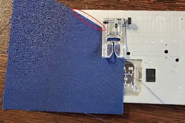 Marcação especial Janome - Calcador A com ângulo de 120º