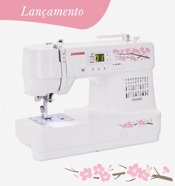 Máquina de costura eletrônica Janome 1030MX ideal para costura criativa