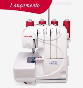 Máquina Overlock Janome e Ultralock Compacta e Portátil 7933D